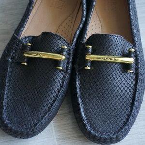 Ralph Lauren Shoes - Ralph Lauren Caliana Loafers in Snakeskin